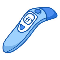 Color del termómetro infrarrojo del equipo de la enfermera