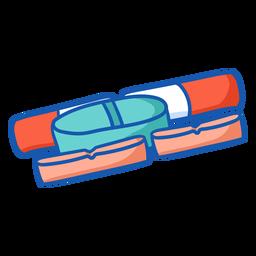Enfermera equipo pastillas color