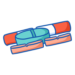 Krankenschwester Ausrüstung Pillen Farbe