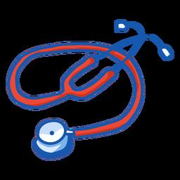 Equipo de enfermera estetoscopio color