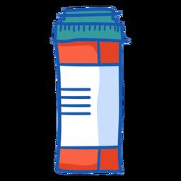 Color de botella de tableta de equipo de enfermera