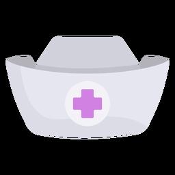 Chapéu de enfermeira plana