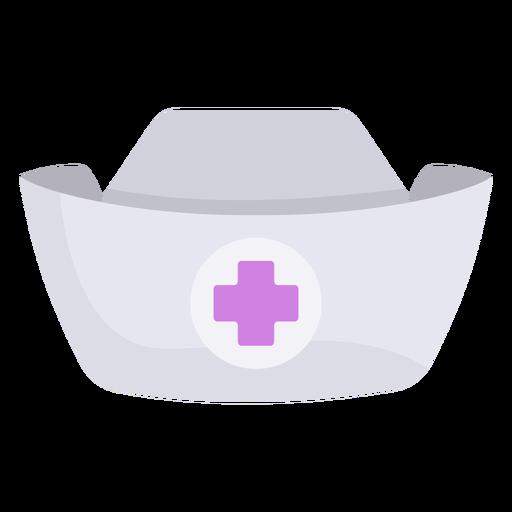 Chapéu de enfermeira achatado