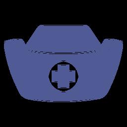 Sombrero de enfermera monocromo