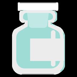 Apotheke blaues Glas flach