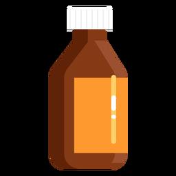 Farmacia tarro naranja plana