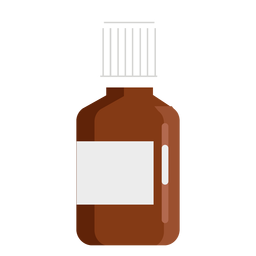 Pharmacy small jar flat
