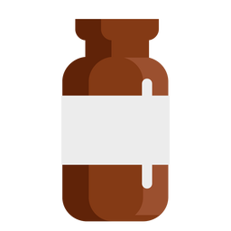 Apothekentabletten Glas flach