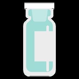 Pharmacy tall blue jar flat