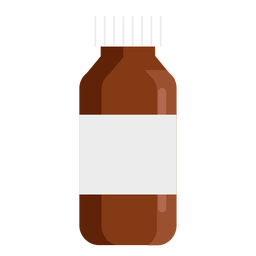 Pharmacy tall jar flat