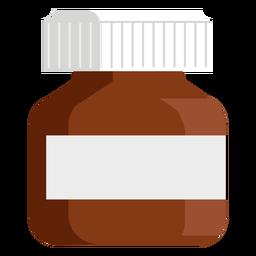 Farmacia frasco ancho plano