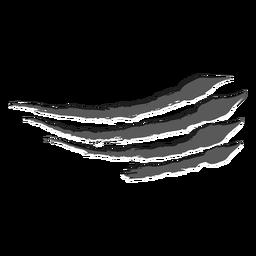 Monocromo de garra de rasguño