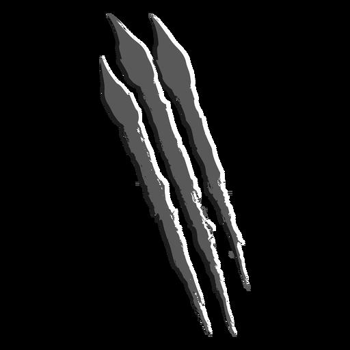 Scratch vertical monochrome