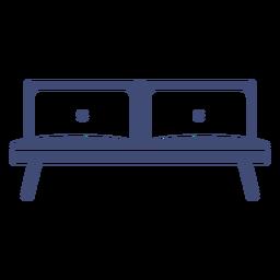 Sofá muebles monocromo