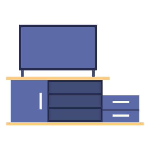 Tv shelf flat Transparent PNG
