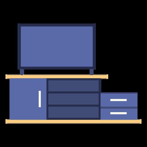 Tv shelf flat