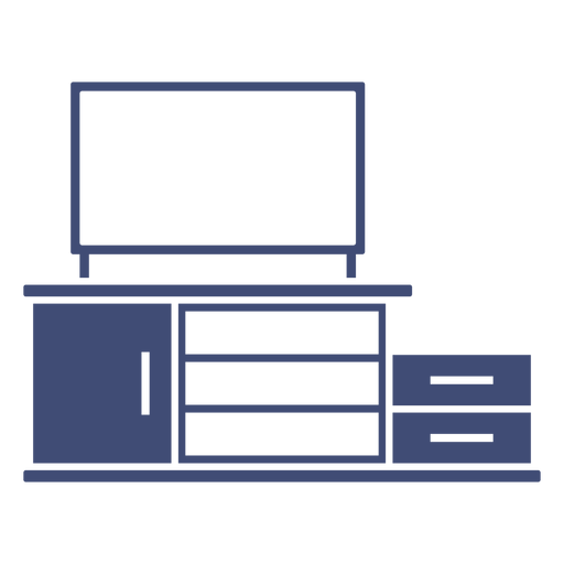 Tv shelf monochrome