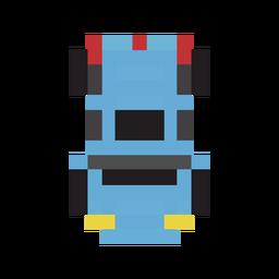Blaues Pixel des Fahrzeugautos