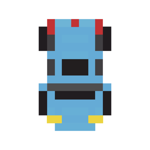 Vehicle car blue pixel