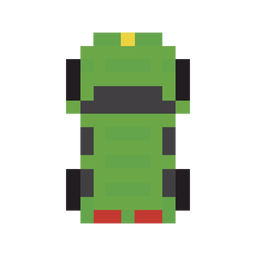 Vehicle car green pixel