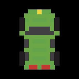Vehículo coche verde pixel