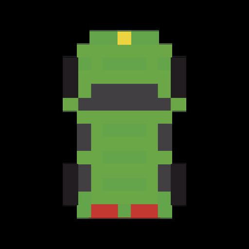 Vehículo coche pixel verde