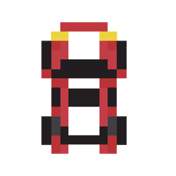 Vehicle car red pixel