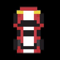 Vehículo auto pixel rojo