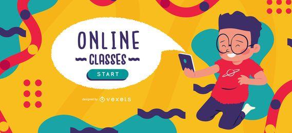 Modelo de controle deslizante de aulas online para crianças