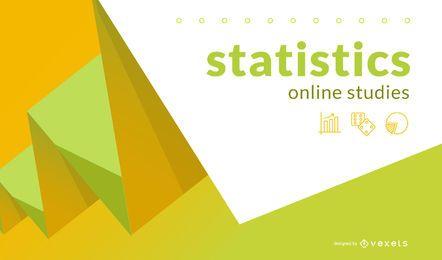 Portada de resumen de estudios en línea de estadísticas