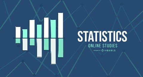 Diseño de portada de estudios en línea de estadística