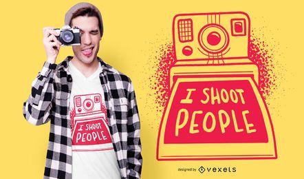 Diseño divertido de la camiseta de la cita de Polaroid