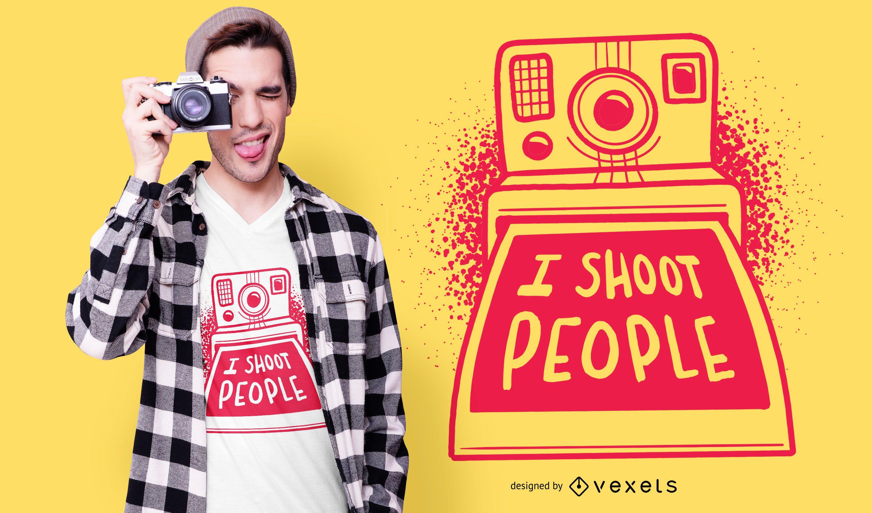 Design de camisetas Polaroid engraçadas