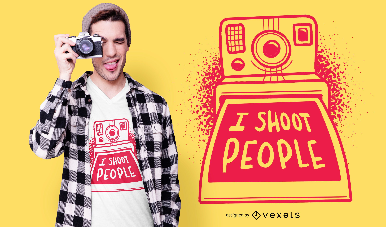 Funny Polaroid Quote T-shirt Design