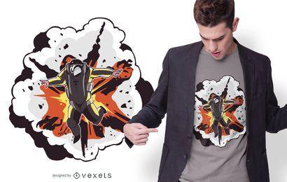Diseño de camiseta de explosión