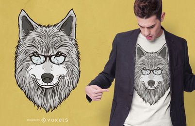 Design de t-shirt de pai lobo