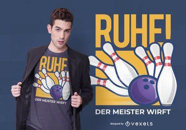 Design de t-shirt alemão de boliche
