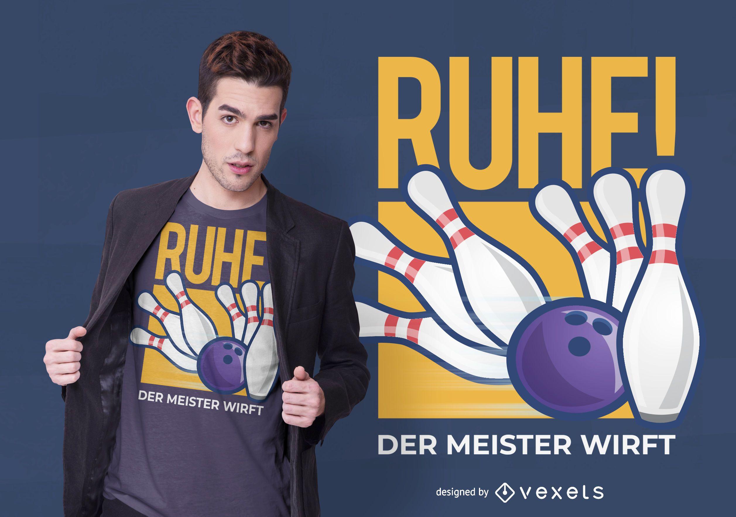 Design de camisetas alemãs de boliche
