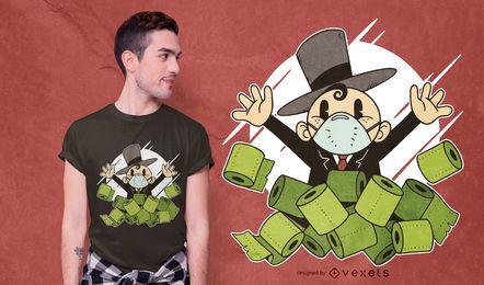Design de t-shirt de papel higiênico rico