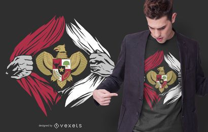 Indonesia Emblem T-shirt Design