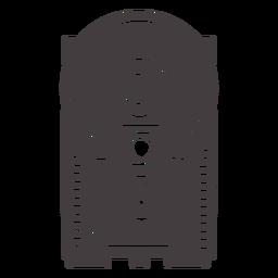 Icono de cámara flash negro antiguo