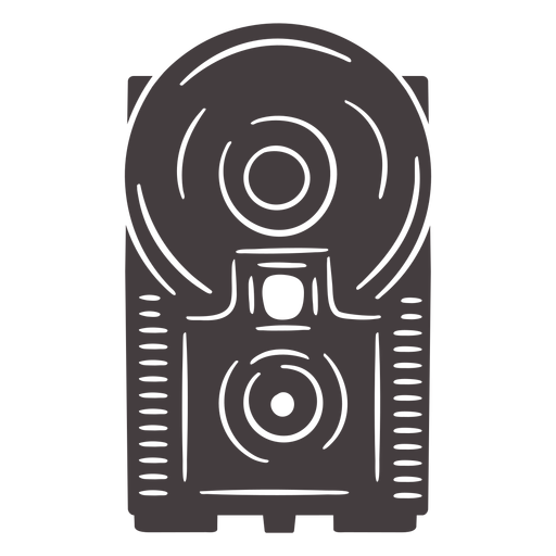 Antique flash camera black icon