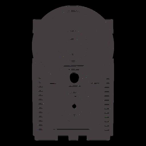 Icono de cámara flash antiguo negro