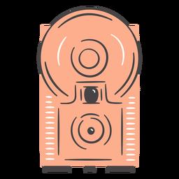 Dibujado a mano cámara flash antiguo