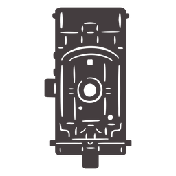 Antique camera black icon