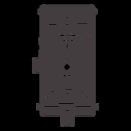 Icono de cámara negra antigua