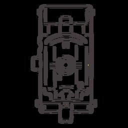 Icono de trazo de cámara antigua