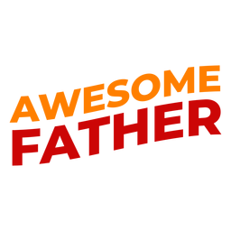 Awesome fathers day lettering
