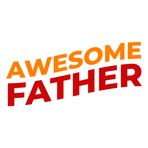 Letras impresionantes del día del padre Transparent PNG