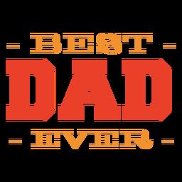 Best dad lettering